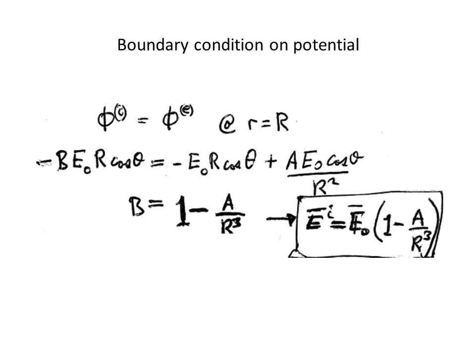 Boundary condition on potential