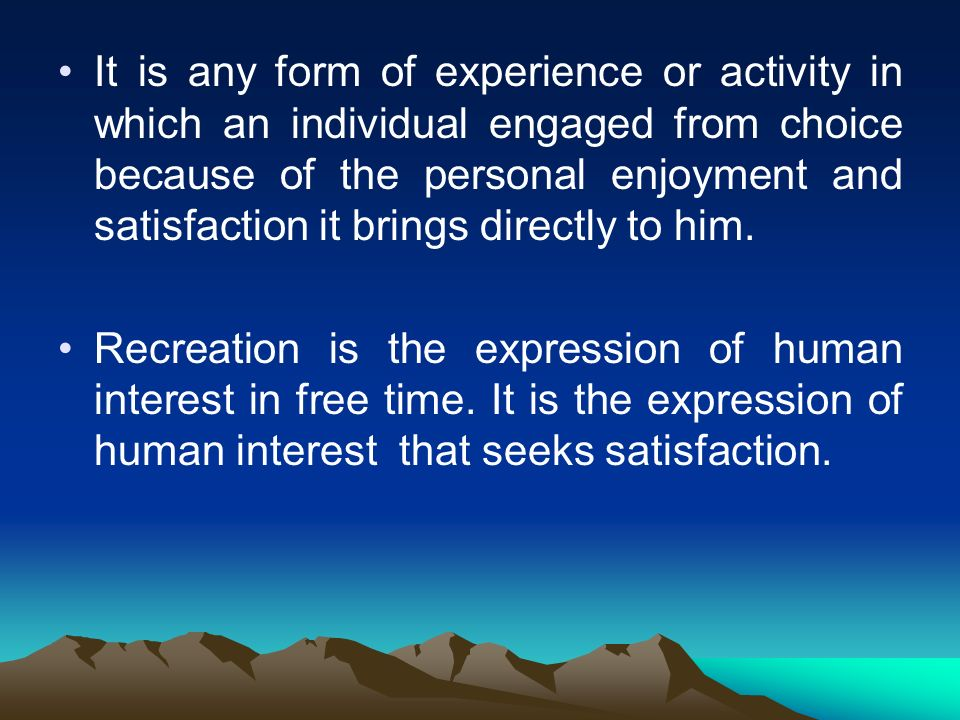 definition of personal satisfaction