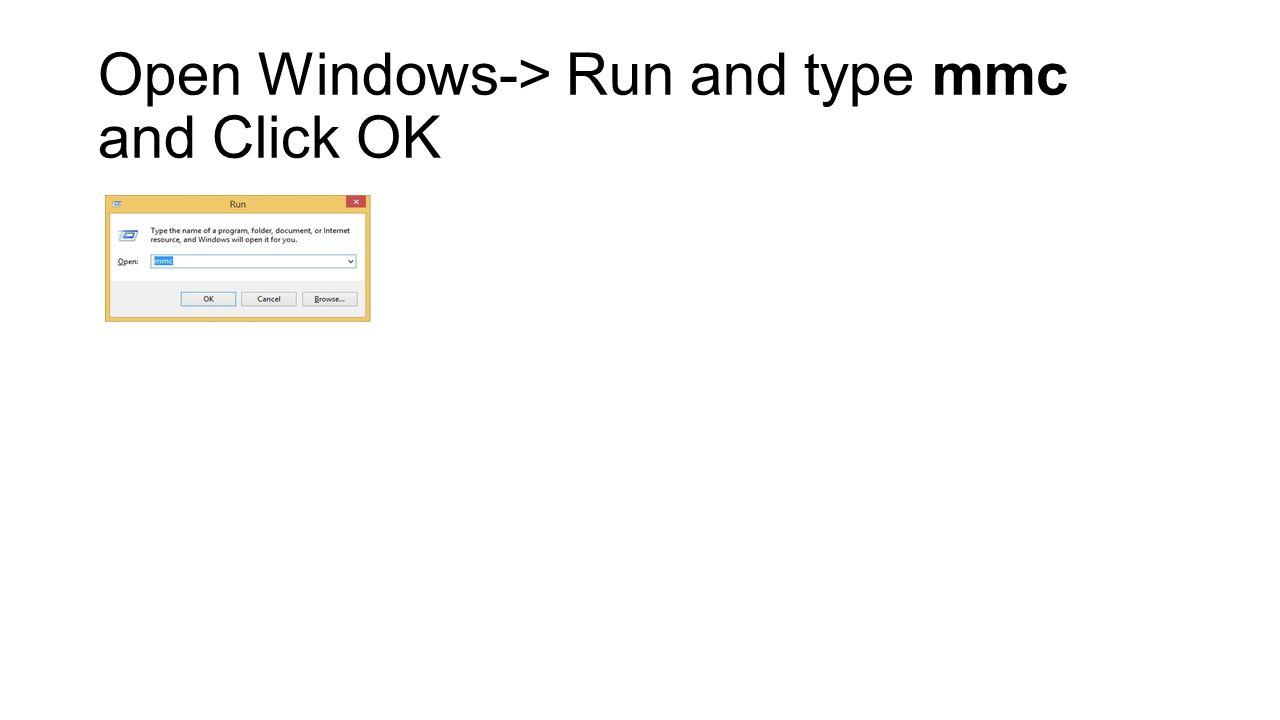 Usage Of Windows Mmc To Change Root Ssl Certificate Properties In E