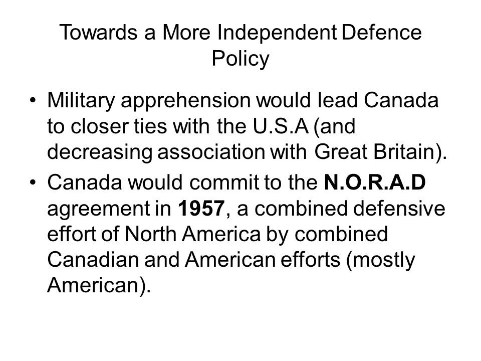 Social Studies 11 Canada In The Post War World Chapter 6 Canada