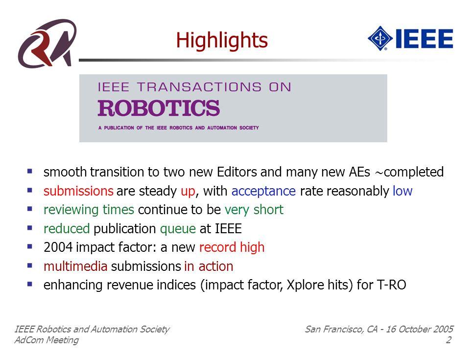 Ieee Robotics And Automation Society San Francisco Ca 16 October