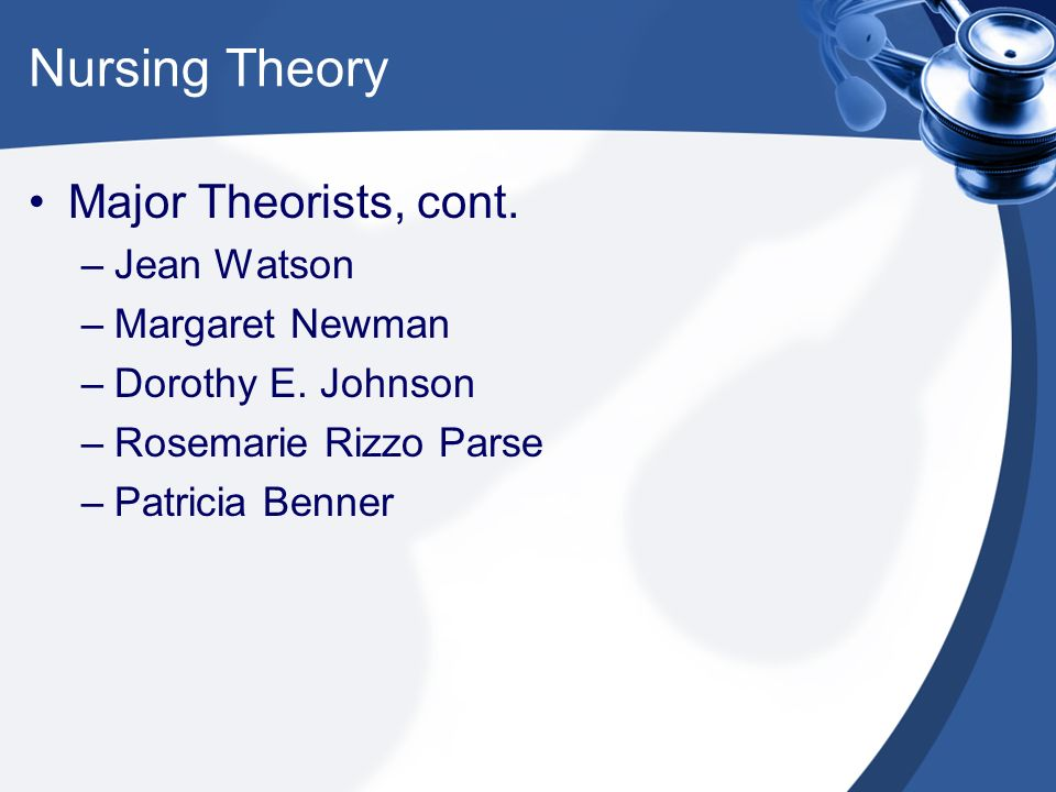 dorothy e johnson theory