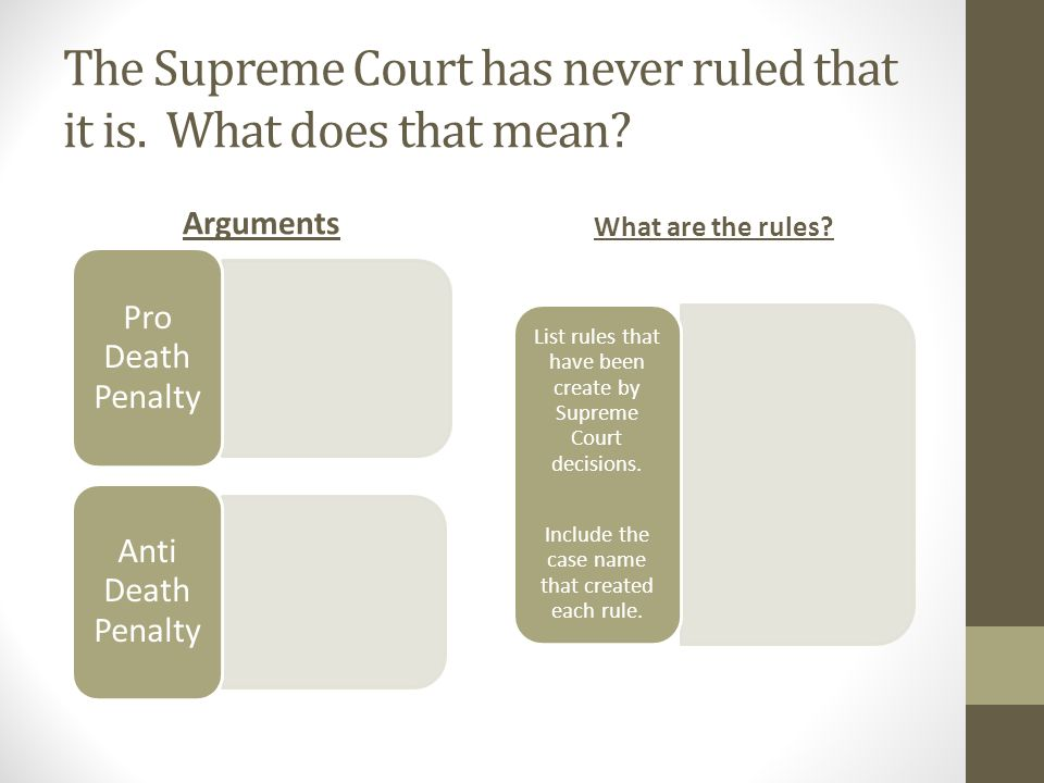 list of pro death penalty arguments
