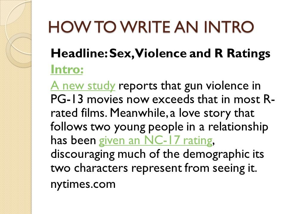 how to write an editorial introduction