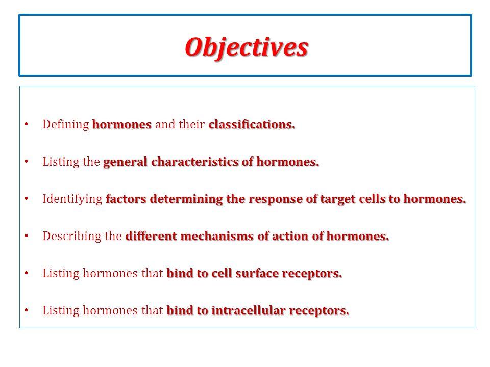 characteristics of hormones