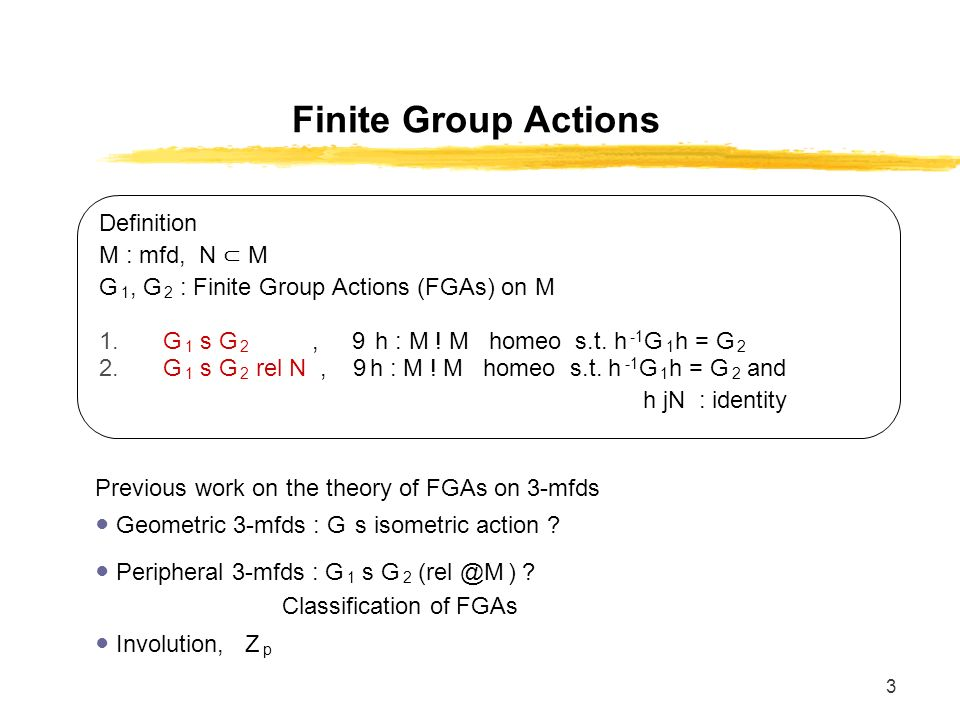 1 Finite Group Actions on Partially Peripheral 3-Manifolds