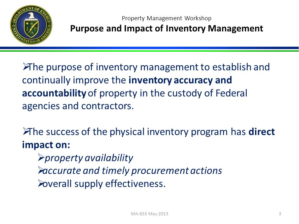 property management workshop physical inventory outline 1