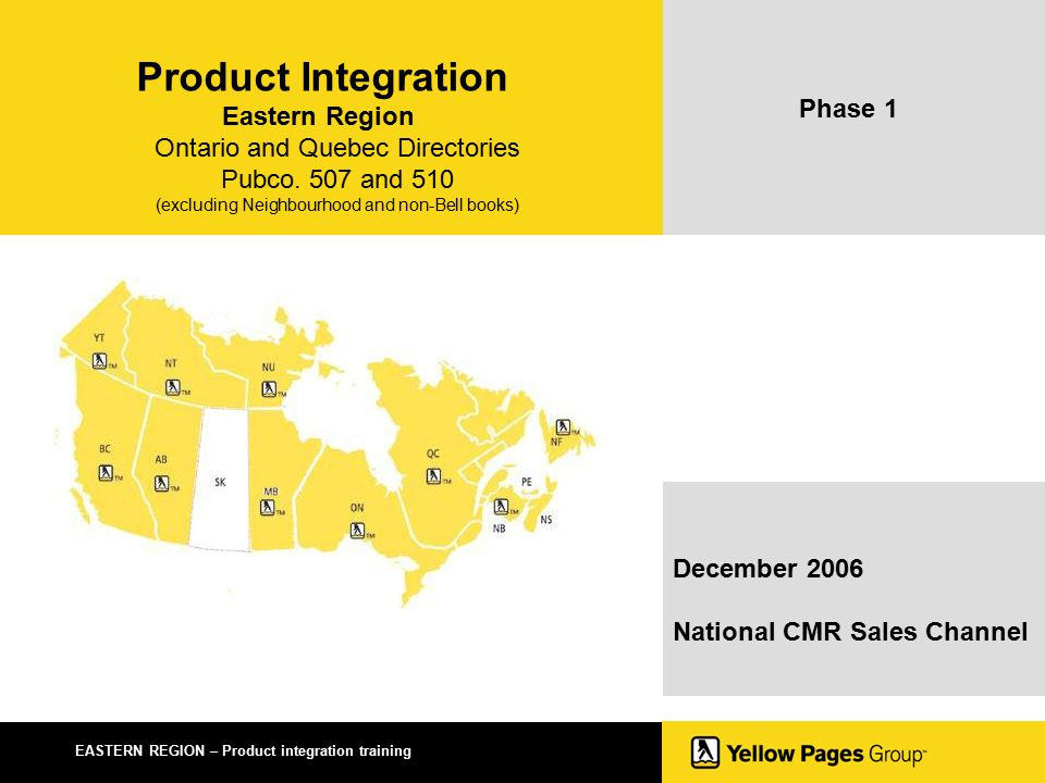 EASTERN REGION – Product integration training Product Integration