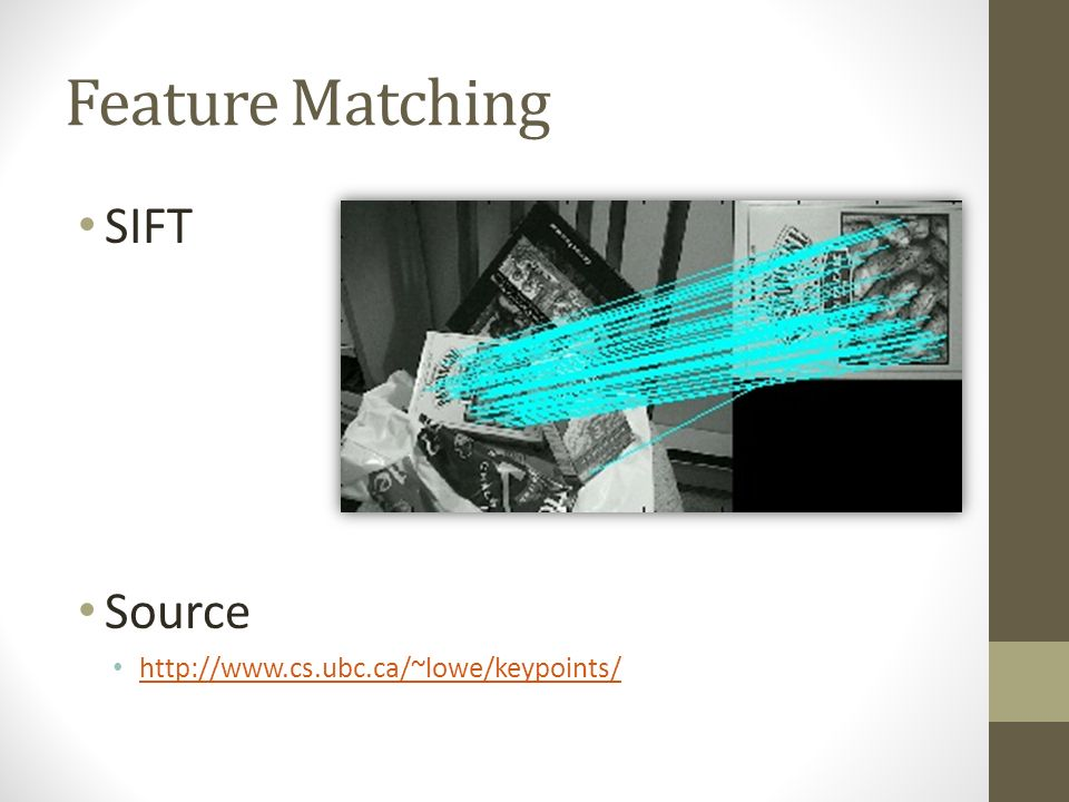Matlab Demo Feature Matching SIFT Source - ppt download