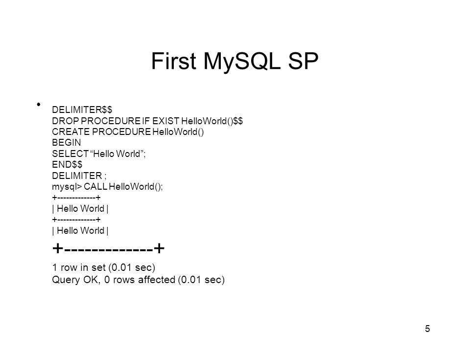 1 Stored Procedures in MySQL Part I  2 Objectives SQL Vs  MySQL SP
