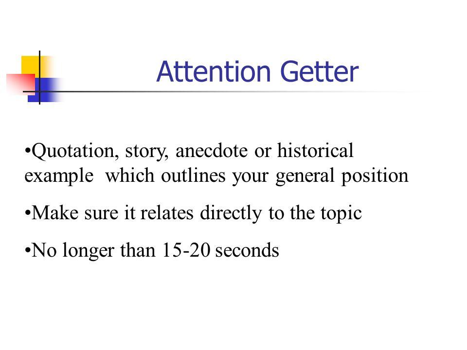 define attention getter