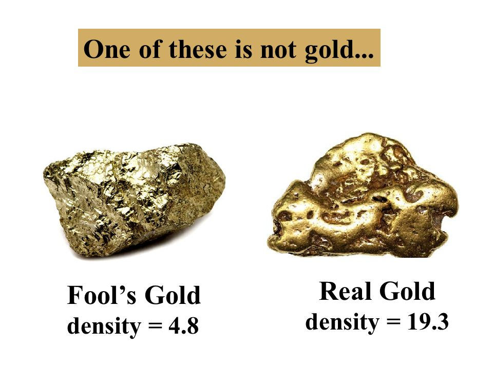 Image result for gold vs fools gold