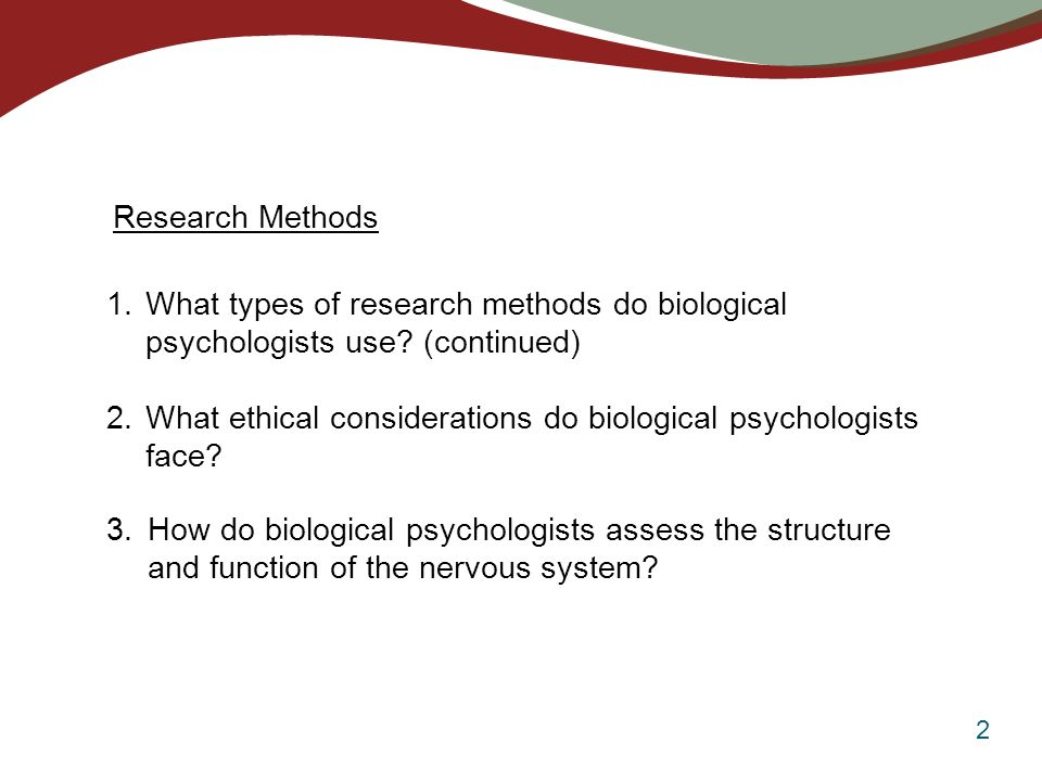 biological psychology examples