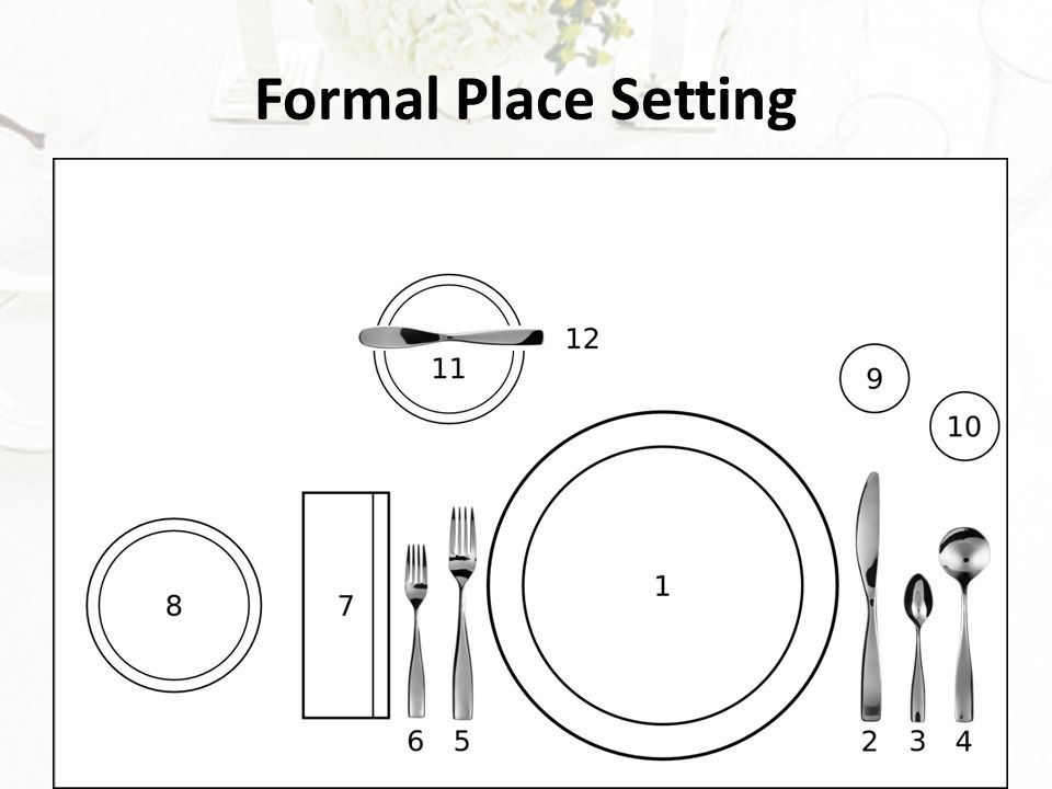 4 Formal Place Setting
