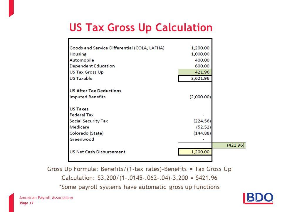 Gross pay calculator.