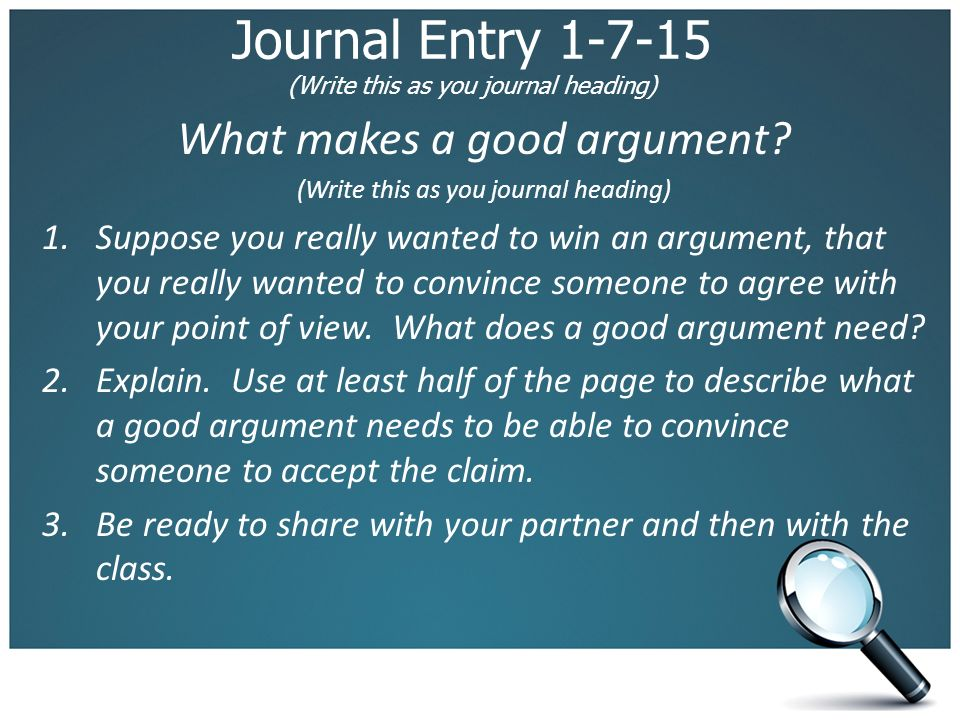 what makes a good argumentative essay