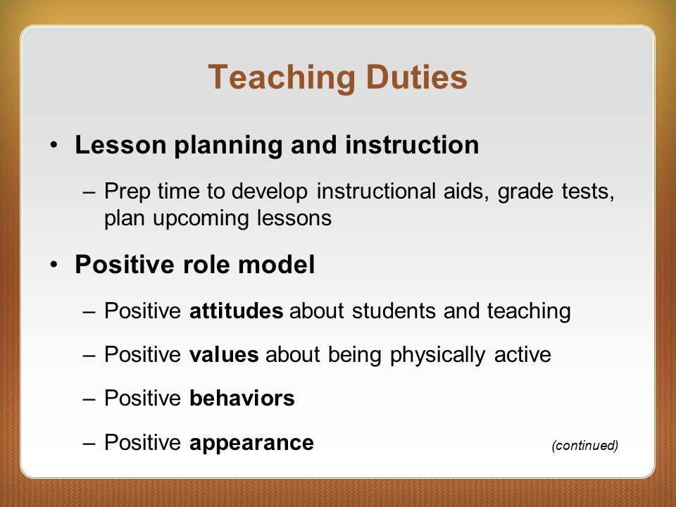 Chapter 3 3 Duties and Challenges C H A P T E R  Teaching