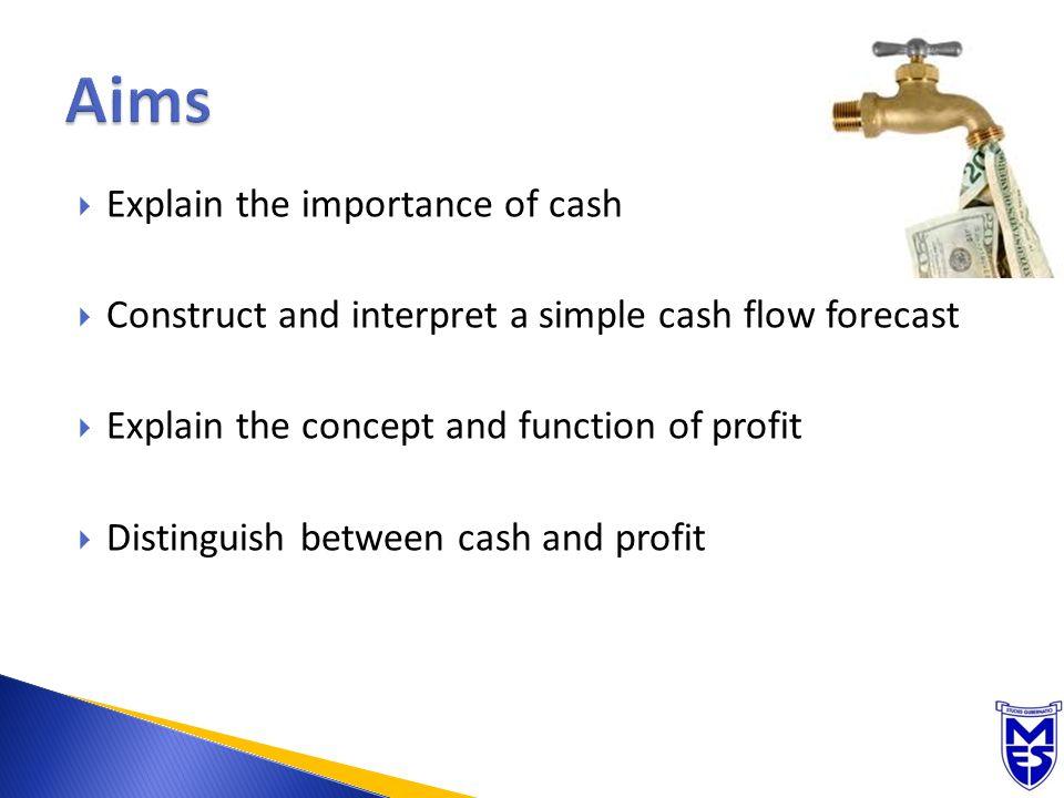 cash flow planning explain the importance of cash construct