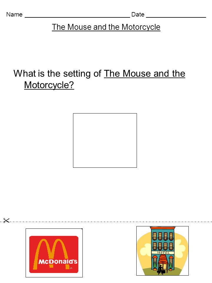 Printable Worksheets the mouse and the motorcycle worksheets : The Mouse and the Motorcycle Worksheets Created by Gail Crider ...