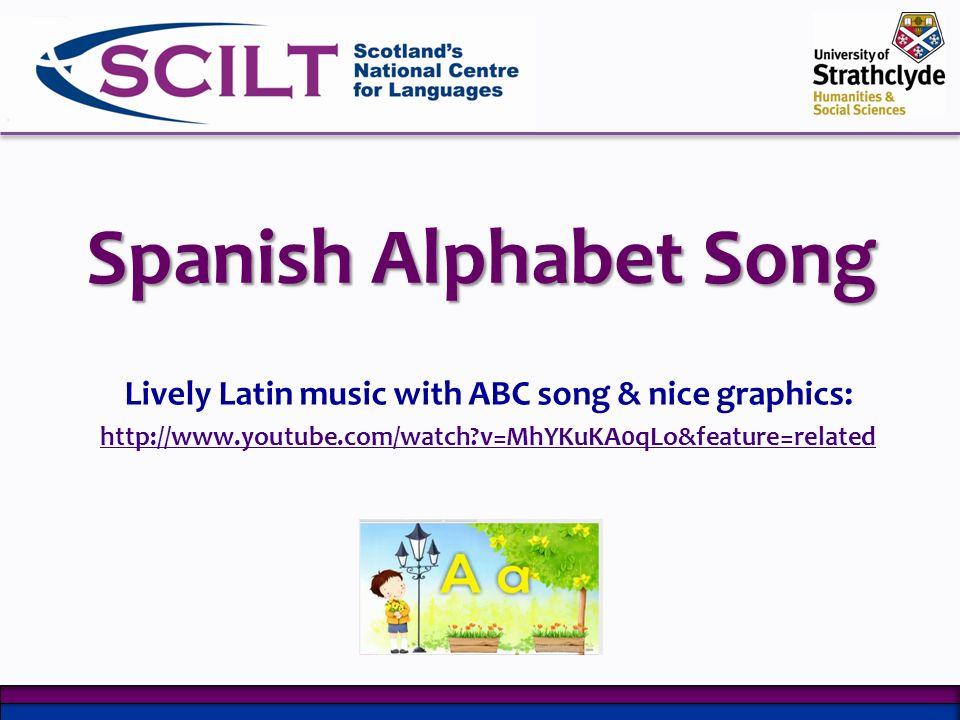 The Alphabet Song Alphabet lyrics & video clips in French, Spanish