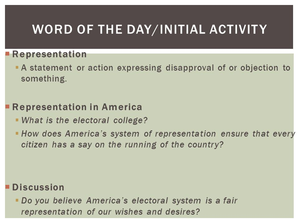 lesson 13 the united states electoral and representational system