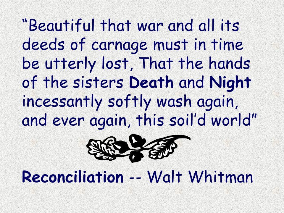 reconciliation walt whitman