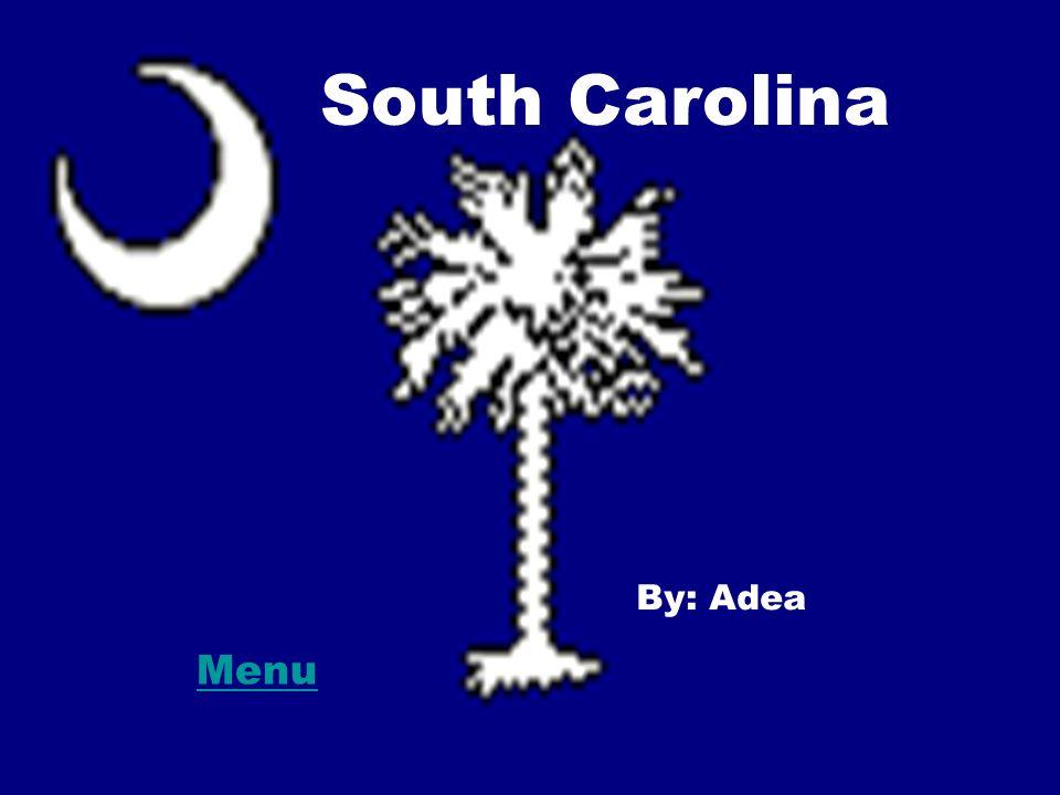 South Carolina By Adea Menu Symbols Famous People Land Marks
