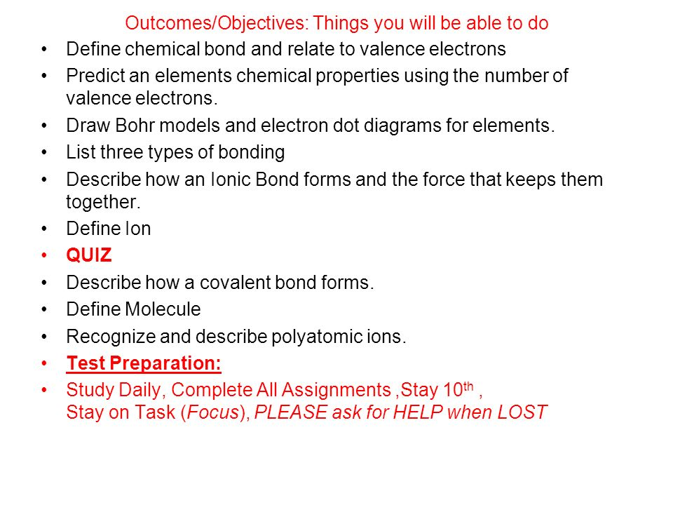 Chemical Bonding The Most Important Property Of An Is How It