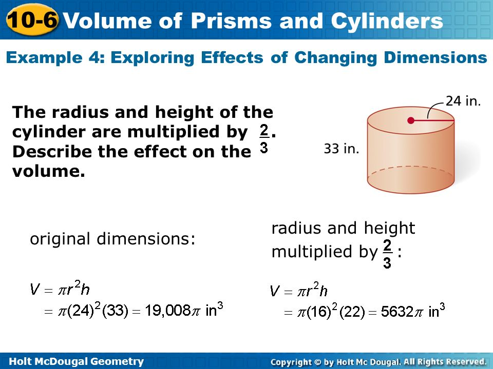 10-6 problem solving volume of prisms and cylinders