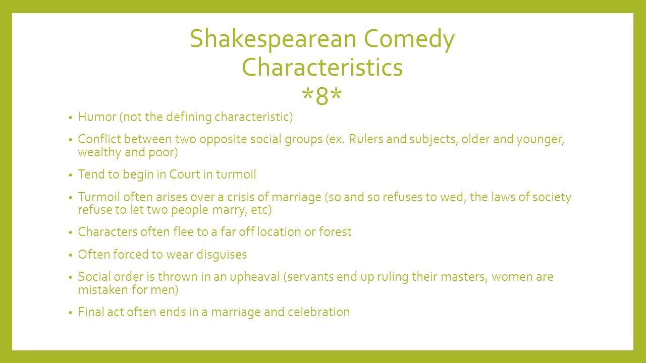 characteristics of comedy