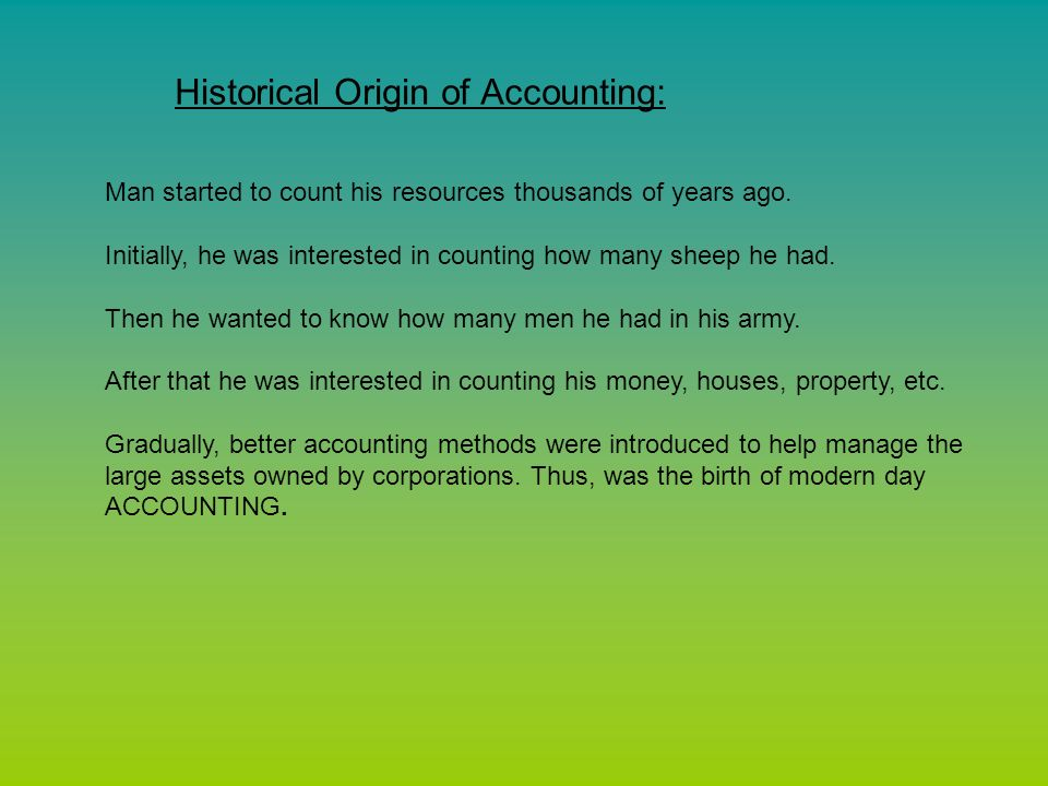 where did the word accounting come from