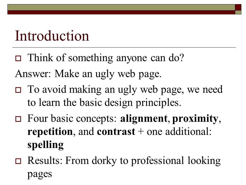 Web Design Basics What Is A Good Web Site From A Design Standpoint Ppt Download