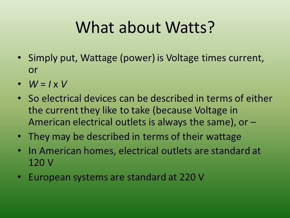 What about Watts.