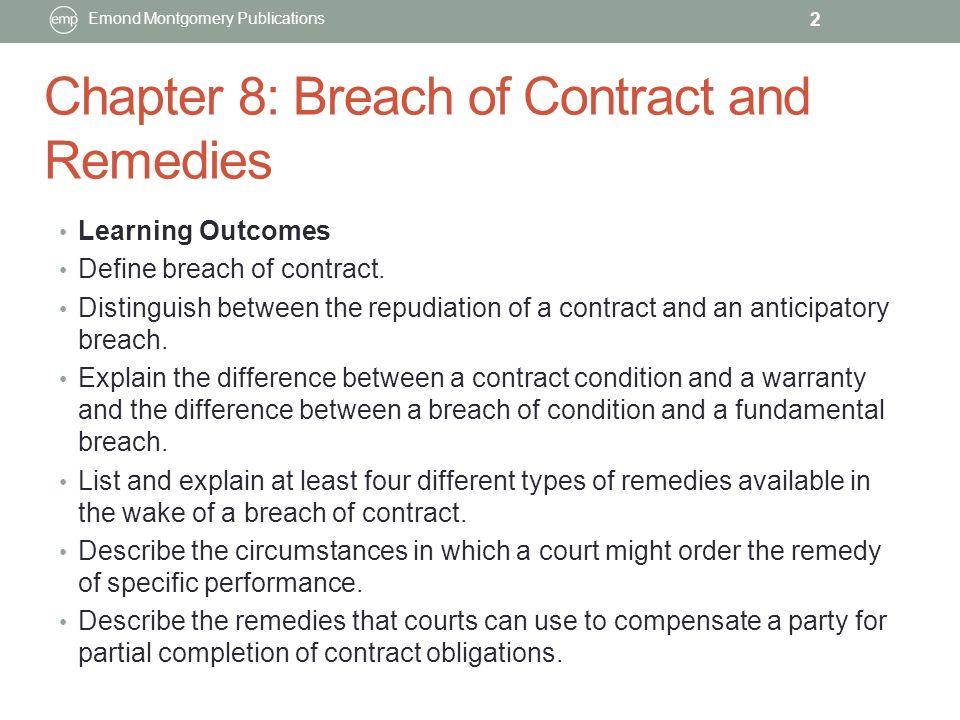 explain breach of contract