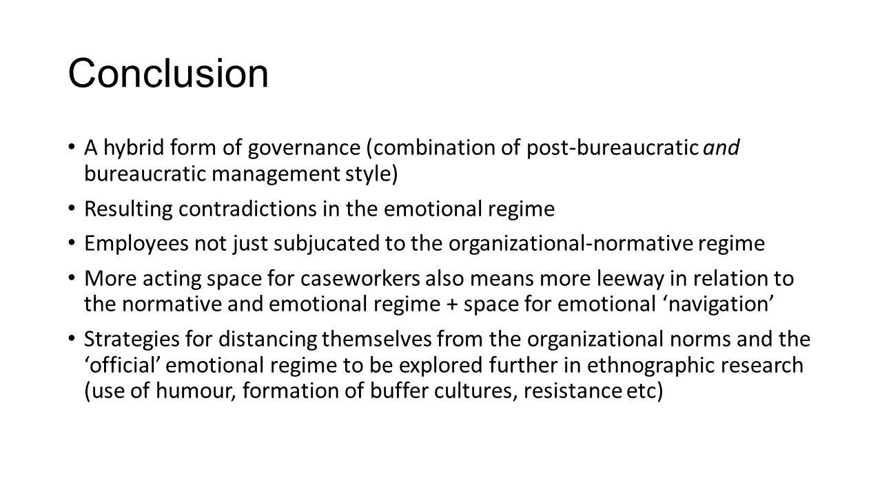 post bureaucratic management