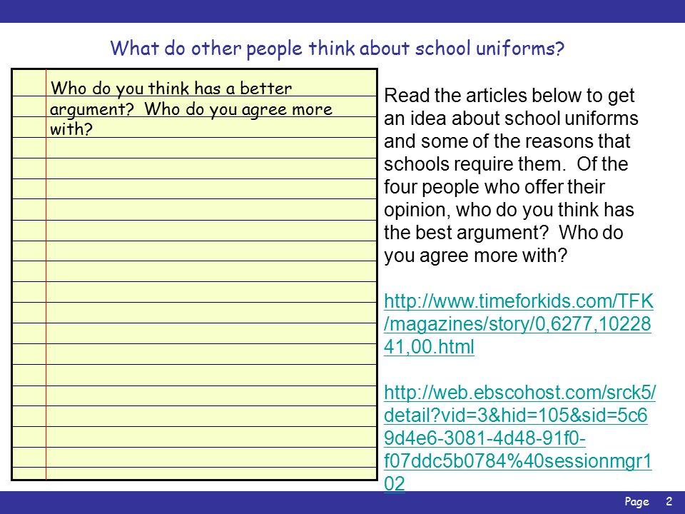 arguments against wearing school uniform