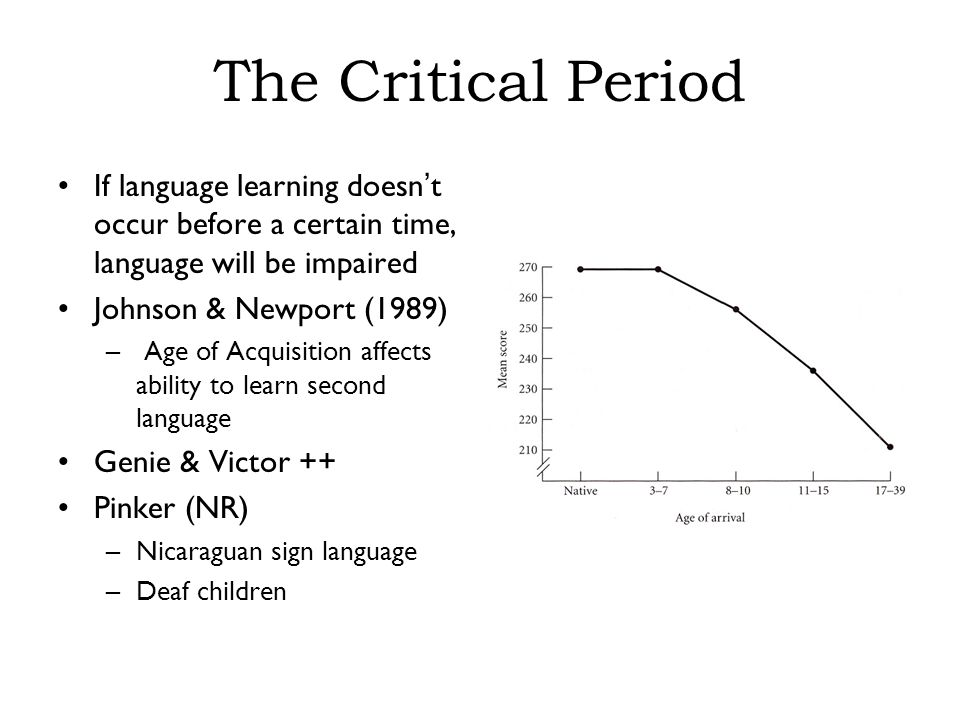 how age affects language