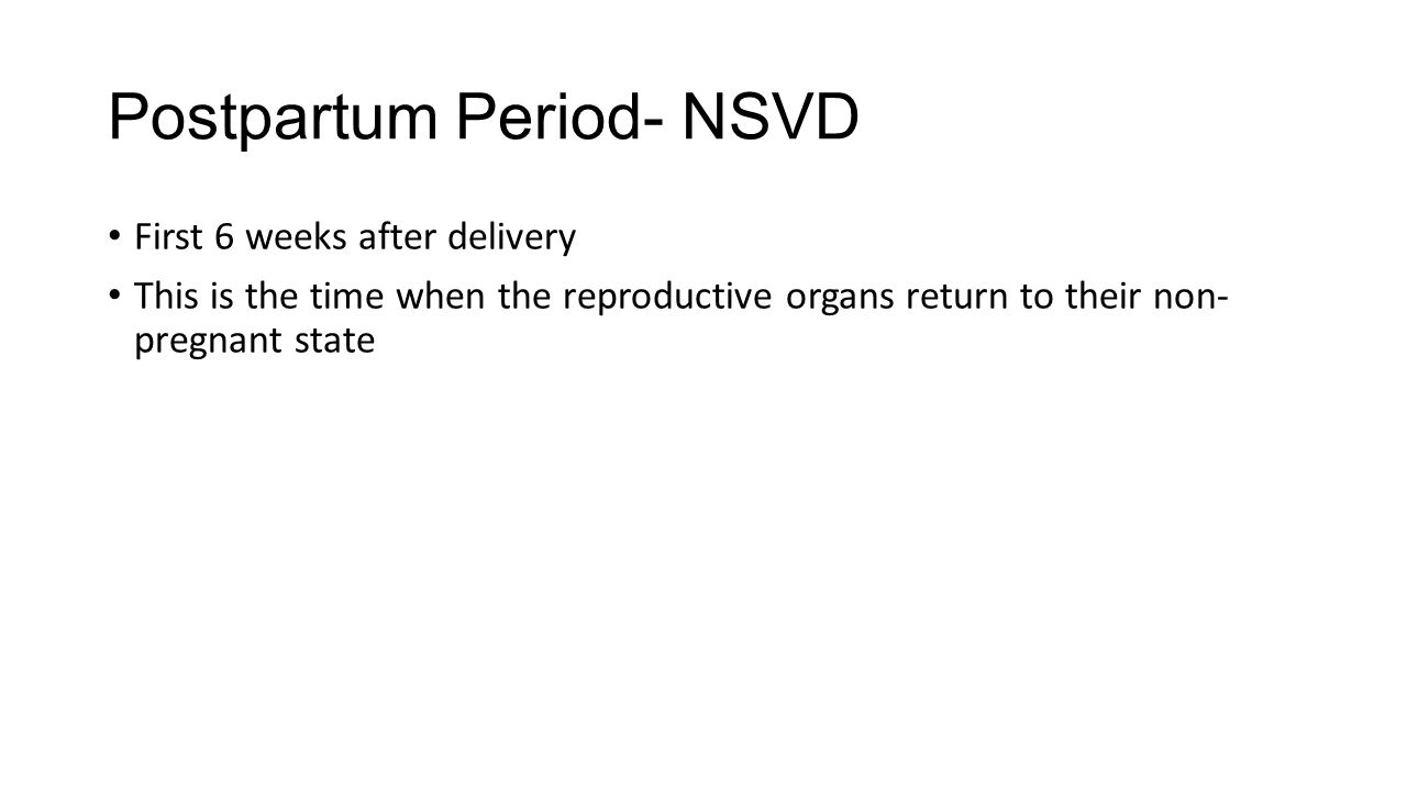 OB Nursing The Postpartum Period. Learning Objectives At the end of ...
