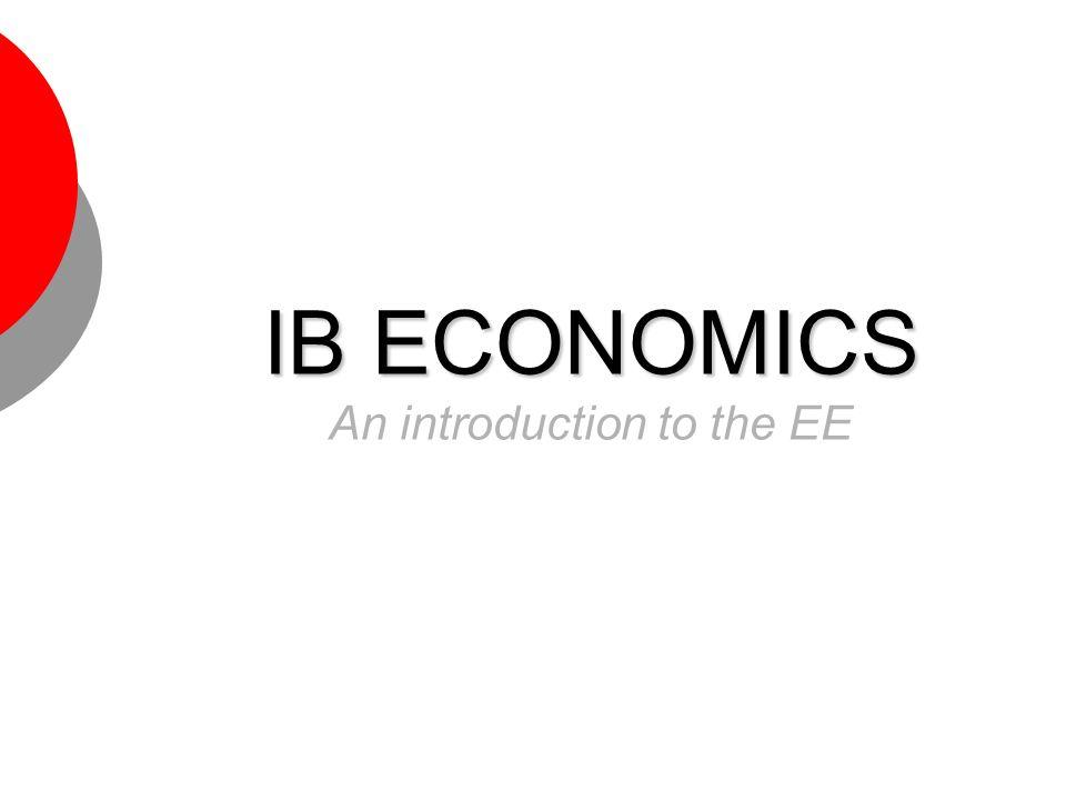 ib economics ee topics