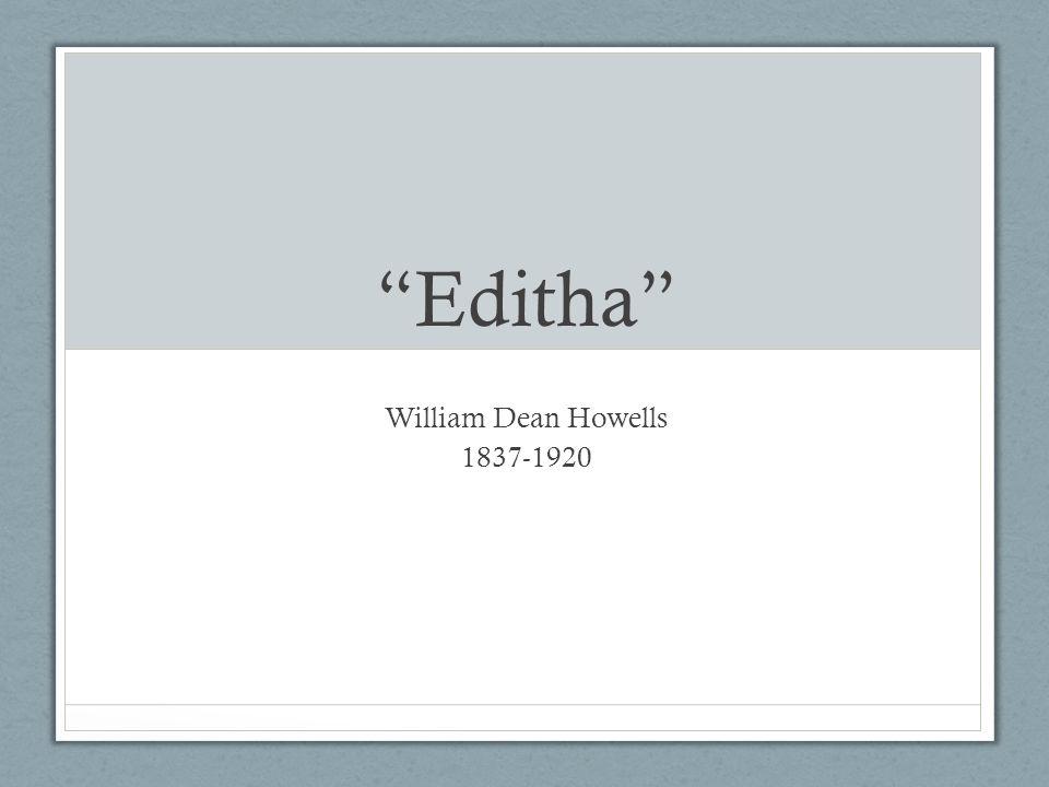 wd howells editha