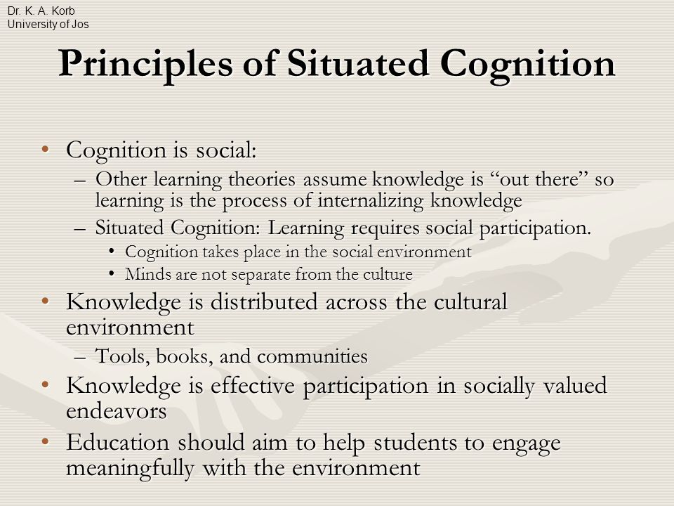 situated cognition theory