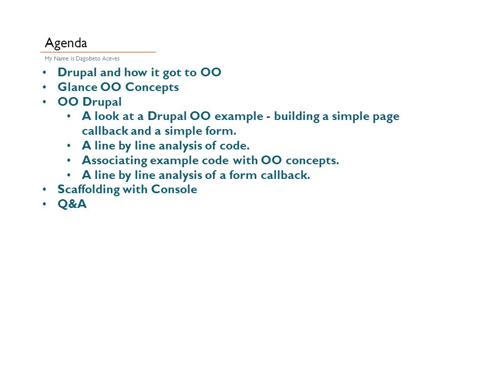 OO: Geting the Uh-oh's out of Object Oriented Drupal ppt