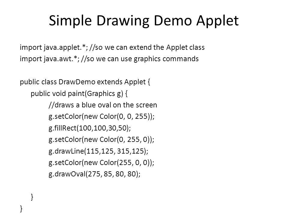 Lec 15 Writing an Applet Class  Agenda Writing an Applet