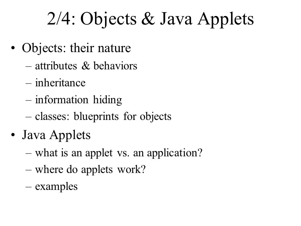 24 objects java applets objects their nature attributes 24 objects java applets objects their nature attributes behaviors malvernweather Gallery