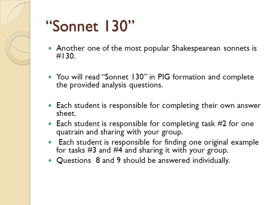 Sonnet. Warm-up Today is day 21 (October 2 nd, Wed) You need ...