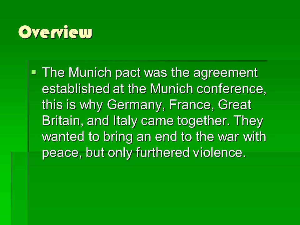 The Munich Conference By Konnor Bartels Hconferenceg Ppt