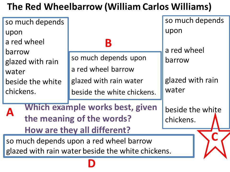 the red wheelbarrow analysis