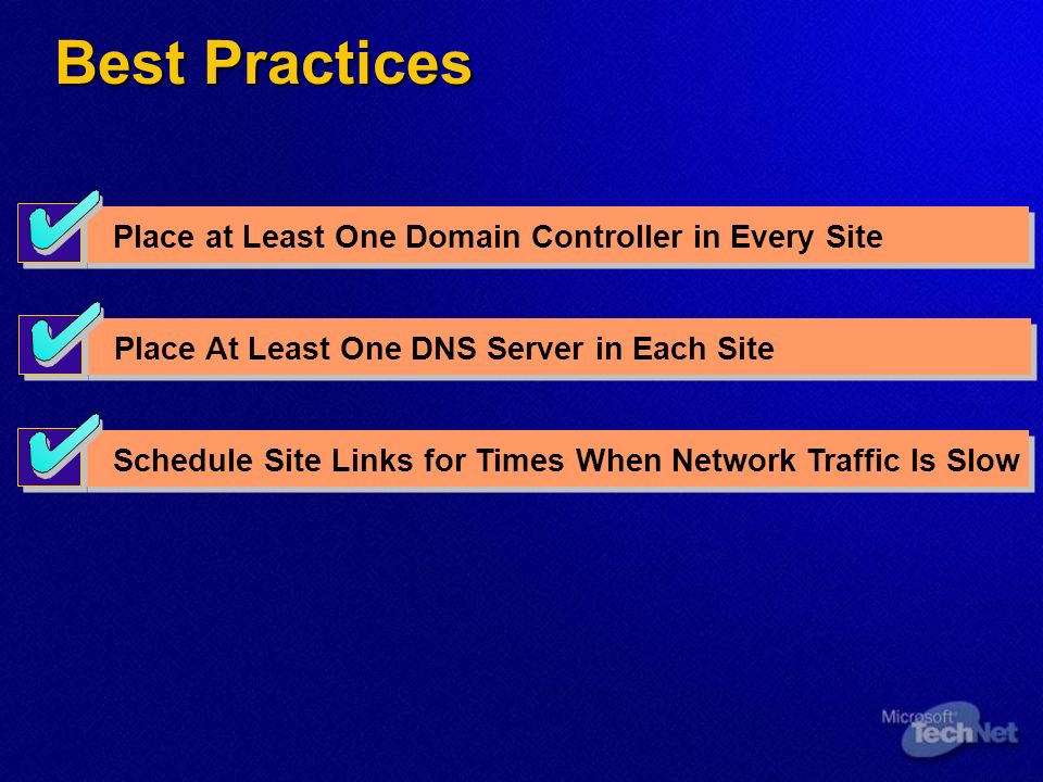 Module 3: Designing an Active Directory Site Topology  - ppt
