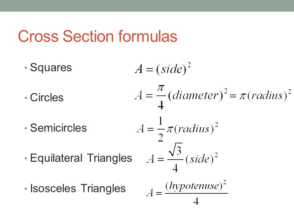 Section 73c Volumes Of Known Cross Sections Recall. 5 Cross Section Formulas Squares Circles Semicircles Equilateral Triangles Isosceles. Worksheet. Worksheet On Volume By Cross Sections At Mspartners.co
