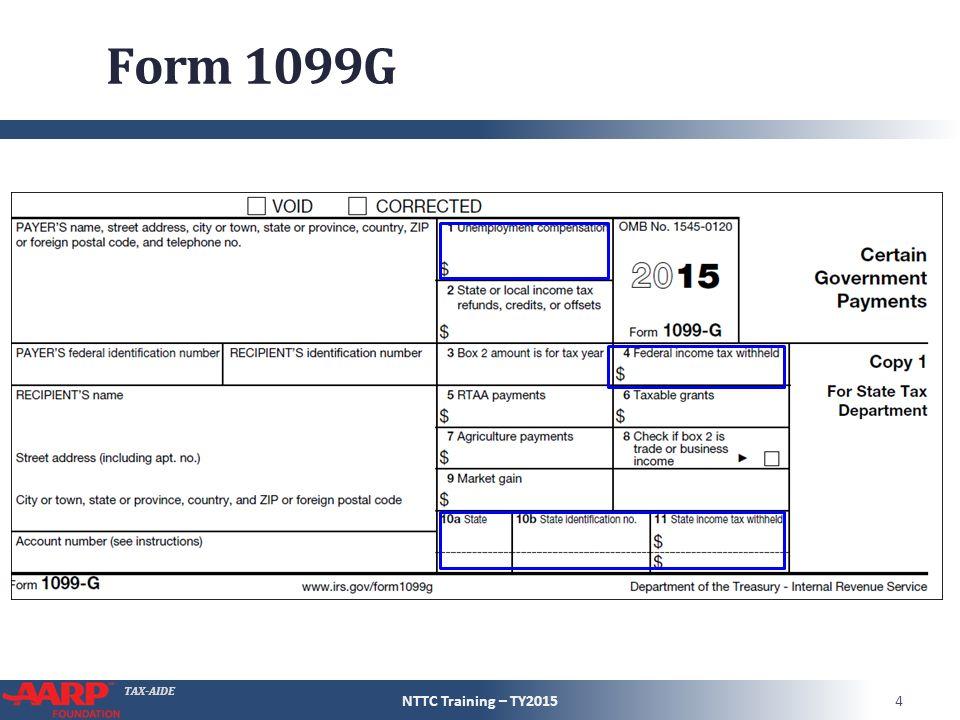 TAX-AIDE Unemployment Compensation Form 1040 – Line 19 Pub 4491 ...